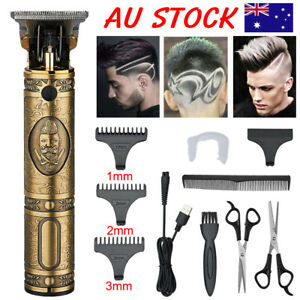 11PCS Men's USB Electric Hair Clippers Trimmer Beard Shaver Cordless Groomer Kit