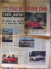 b)L'AUTO-JOURNAL n°147 du 4/1956; Essai Aronde 1300/ Salon de Genève/ Vespa 150