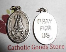 Our Lady of Charity - Caridad De Cobre  -  Italian Silver tone OX 1 inch Medal