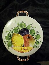 BEAUTIFUL BASSANO CERAMICHE ABC HAND PAINTED WALL HANGING MOLD ITALY VERY NICE!!