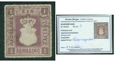 "Meclemburgo-Strelitz-N. 3 timbrato-breve risultati ""Berger"""