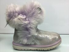Uggs Grey/Purple Girls Size 4M ⭐️