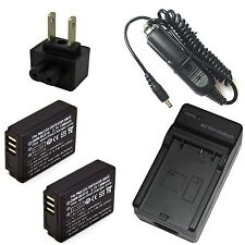 Charger + 2x Battery Pack for Panasonic Lumix DMC-TZ5 DMC-TZ11 DMC-TZ15 DMC-TZ50