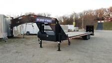 2020 Sure-Trac 8.5x27+5 Heavy Duty Gooseneck Equipment Trailer Black Powder Coa