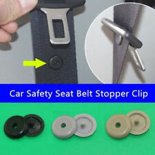 10pc Universal Plastic Retainer Clip Seat Belt Stopper Buckle for Car Vehicle