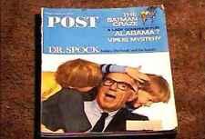 SATURDAY EVENING POST MAGAZINE MAY 7 1966  FINE + BATMAN ADAM WEST DR SPOCK