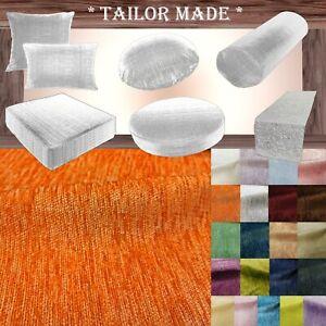 Wn06 Orange Chenille  Sofa Seat Patio Bench Box Cushion Bolster Cover/Runner