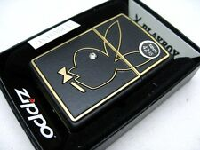 ZIPPO Black Matte PLAYBOY Bunny w/ Crystal Eye Windproof Lighter! 28816