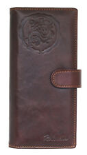 Men's Leather Clutch Long Wallet 11 Credit Card Holders Zippered Coin Pocket