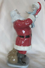 "LLADRO MERRY CHRISTMAS SANTA! #9254 RED BABY CHRISTMAS CUTE 15"" TALL SAVE$$ F/SH"