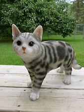 Cat Figurine American Shorthair Standing animal farm resin Ornament Pet New