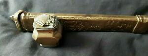 Antique 19c Brass Ottoman Divit Qalamdan Traveling Inkwell Quill Scribe Pen Case