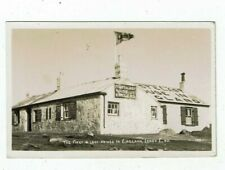 CORNISH POST CARD REAL PHOTO THE FIRST AND LAST HOUSE IN ENGLAND, LAND`S END