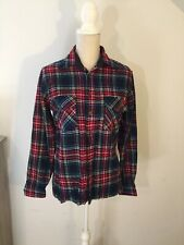 Red Plaid Ladies Women's Winter Top Size S By Woodland Camping Casual Flannel