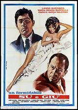 SU E GIU' MANIFESTO CINEMA ELEONORA ROSSI DRAGO ALIDA CHELLI SEXY 1970 POSTER 4F
