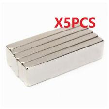 Super Strong Magnets Block Cuboid 40x10 x4 mm Rare Earth Neodymium N35 5Pc ♫