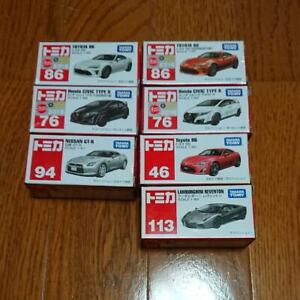 Tomica 46 Toyota 86, 76 Honda Civic TYPE R, 94 Nissan GT-R etc. Opened Unused