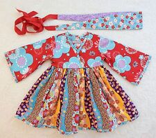 NWOT, **Jelly the Pug** VVHTF- Aspen Ayana Japenese Style Dress-18m