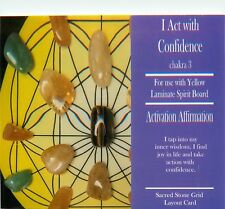 "I ACT WITH CONFIDENCE Grid Card 4x6"" Heavy Cardstock For Use with Crystals"