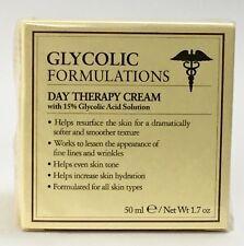 "GLYCOLIC FORMULATIONS Day Therapy Cream 15% Glycolic Acid 1.7 Oz ""Italy"" NIB"