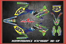 201617  KAWASAKI KX450 KX 450F CUSTOM MADE FEAR ME GRAPHIC KITS DECAL DETOX