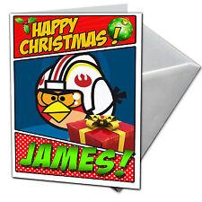 Angry Birds Star Wars-Personalizado De Tarjetas De Navidad-Hijo, Hija, sobrino