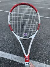 Wilson Six One 95S Tennis Racquet White Red Spin Effect Technology 309G Graphite