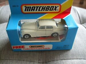 MATCHBOX ROLLS -ROYCE SIVER CLOUD 2 IN CREAM- MINT IN SEALED BOX  # MB31
