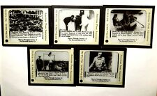5 Magic Lantern Slides WWI British Homefront Zeppelin Bomb Burned Factories 1915