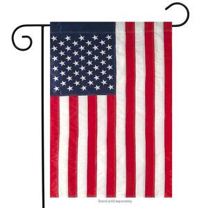 """American Flag Applique & Embroidered Garden Flag 12.5"""" x 18"""""""