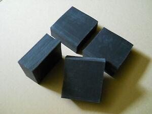 Gummiauflage 4 Stück ca. 75x75x30 mm Gummiklotz Hebebühne Wagenheber Gummiblock