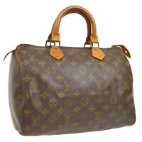 LOUIS VUITTON SPEEDY 30 HAND BAG MONOGRAM CANVAS LEATHER M41526 A46524b