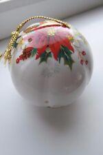 Royal Albert Poinsettia Pomander Bone China Christmas Rare