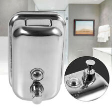 Bathroom Stainless Steel Soap/Shampoo Dispenser Lotion Pump Action Wall