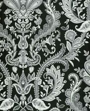 Paisley Wallpaper in Black and White DOUBLE roll BW28703