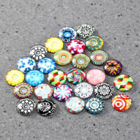 Mixed Colors Handcraft Glass Tiles DIY Jewelry Design Round Glass Mosaic Tiles