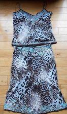 Karen Millen  2 Piece Silk Top AND Skirt ~ Dress UK 12 ~ ( 14 )