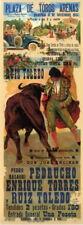 "007 Vintage Spanish - Arenas Barcelona Bullfight14""x37""Poster"
