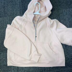 NWT Lululemon Scuba Oversized 1/2 Zip Hoodie Size M/L Pink Mist PIMI