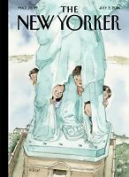 """THE NEW YORKER MAGAZINE JULY 2 2018  """"YEARNING TO BREATHE FREE"""" SHIPS"""