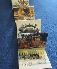 Stage Coach / State Coach / Carriage Postcards 12 Wagenburg Austria 1988 Stunnin