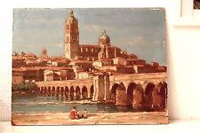 Splendide panneau huile XIX ème Charles BISSCHOPS Orientalisme Grosse cote Animé