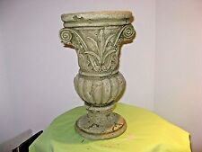 "13"" Tall Aged Looking Stone Outdoor Garden Urn Planter / Flower Pot - New"