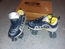 NEW- Chicago Quad Cruiser Roller Skates Boys Size 6 Blue Gray Yellow Rollerskate