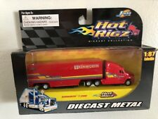 Hot Jada Toys Hot Rigz KENWORTH T-2000 ORANGE 1:87 EIGHTEEN WHEELS BIG RIG 18