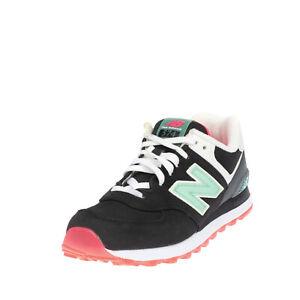 NEW BALANCE 574 Leather Sneakers Size 39 UK 6 US 8 ENCAP Logo Patch Lace Up