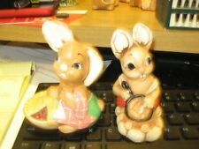 Pendelfin Set Of 2 Rabbits One Is Pieface And Don' Know The That Is Cooking
