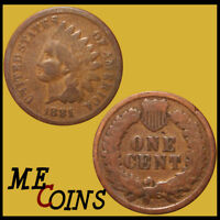 1881 Indian Head Cent Penny , Circulated , US Coin