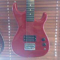 🎸 Vintage Encore E1B Electric Guitar 1980s Fire Engine Red MiK Korea