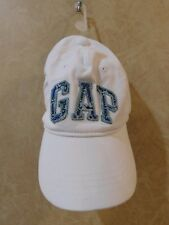 White GAP baseball hat cap embroidered adjustable strap womenns _________ R6A4